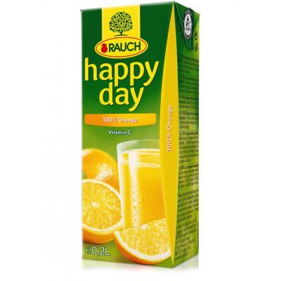 HAPPY DAY Pomaranč 100% 0,2l  27TP
